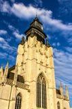 Kyrkliga Notre-Dame de la Chapelle i Bryssel Royaltyfri Bild