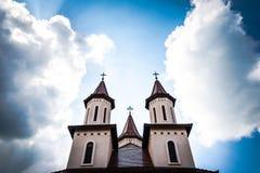 kyrkliga ortodoxa torn Royaltyfria Foton