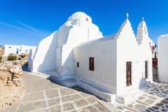 Kyrkliga Panagia Paraportiani, Mykonos Royaltyfri Fotografi