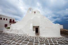 Kyrkliga Panagia Paraportiani, Mykonos Fotografering för Bildbyråer