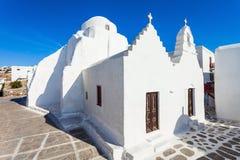 Kyrkliga Panagia Paraportiani, Mykonos Royaltyfria Bilder
