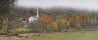 kyrkliga panorama- vermont Royaltyfria Bilder
