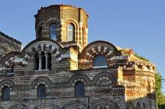 Kyrkliga Pantocrator Christos i Nessebar, Bulgarien Arkivbilder