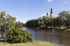 kyrkliga paul peter saints Sestroretsk Ryssland Fotografering för Bildbyråer