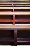 kyrkliga pews Arkivbild