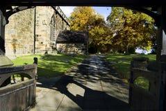 kyrkliga portar royaltyfri fotografi