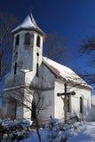 kyrkliga romania fördärvar byn Royaltyfria Foton