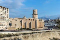 Kyrkliga Saint Laurent från det 12th århundradet i Marseille, Frankrike Arkivfoton