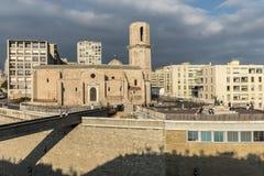 Kyrkliga Saint Laurent från det 12th århundradet i Marseille, Frankrike Arkivbild