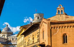 Kyrkliga San Giorgio ai Tedeschi i Pisa Royaltyfri Fotografi