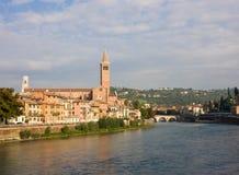 Kyrkliga San Giorgio i Braida - Verona, Italien Royaltyfri Bild