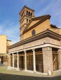 Kyrkliga San Giorgio i Velabro i Rome Royaltyfri Fotografi