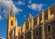 Kyrkliga San Jeronimo el Realo i Madrid, Spanien Royaltyfria Bilder
