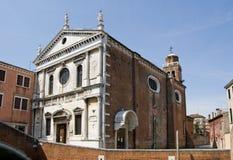 kyrkliga san sebastiano venice Royaltyfria Foton