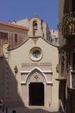 Kyrkliga Sancte Joannes Baptista, Bonifacio, Korsika, Frankrike Arkivbilder
