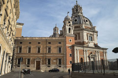 Kyrkliga Santa Maria di Loreto, Rome Royaltyfri Bild