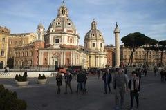 Kyrkliga Santa Maria di Loreto, Rome Royaltyfri Foto