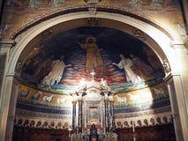 Kyrkliga Santi Cosma e Damiano i Rome Fotografering för Bildbyråer