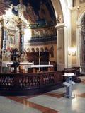 Kyrkliga Santi Cosma e Damiano i Rome Royaltyfri Foto