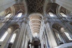 Kyrkliga St John det baptistiskt på Beguinage, Bryssel, Belgien Arkivbild