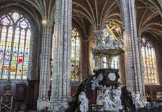 Kyrkliga St John det baptistiskt på Beguinage, Bryssel, Belgien Arkivfoton