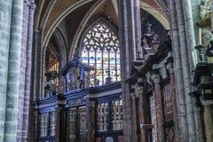 Kyrkliga St John det baptistiskt på Beguinage, Bryssel, Belgien Arkivbilder