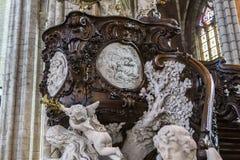 Kyrkliga St John det baptistiskt på Beguinage, Bryssel, Belgien Royaltyfri Foto