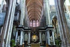 Kyrkliga St John det baptistiskt på Beguinage, Bryssel, Belgien Arkivfoto