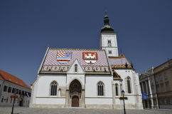 Kyrkliga St Mark, Zagreb 3 Arkivbilder