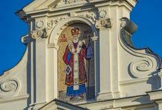 Kyrkliga St Nicholas i Sremski Karlovci, Serbien Arkivfoton