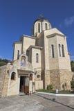 Kyrkliga St Nicholas Wonderworkeren och modern av gud`-Sumela Monastery ` i byn Moldovka, Sochi Arkivfoto