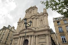 Kyrkliga St Paul St Louis, Paris Frankrike Royaltyfria Bilder
