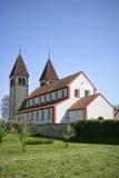 Kyrkliga St Peter och Paul på Niederzell på den Reichenau ön Arkivbilder