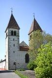 Kyrkliga St Peter och Paul på Niederzell på den Reichenau ön Arkivbild