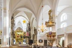 Kyrkliga St Peter och Paul Weimar Thüringen arkivbild