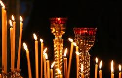 Kyrkliga stearinljus Royaltyfri Fotografi