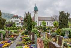 Kyrkliga Stein am Rhein Schweiz Royaltyfri Bild