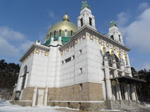 Kyrkliga Steinhof i Wien, Österrike Royaltyfri Bild
