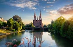 kyrkliga strasbourg royaltyfri foto