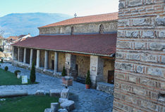 Kyrkliga StSophia i Ohrid arkivbilder
