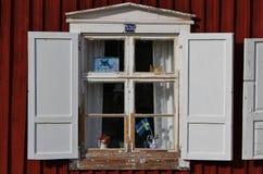 Kyrkliga stugor i Gammelstad kyrkastad Fotografering för Bildbyråer