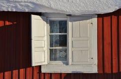 Kyrkliga stugor i Gammelstad kyrkastad Arkivfoton