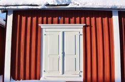 Kyrkliga stugor i Gammelstad kyrkastad Arkivbild