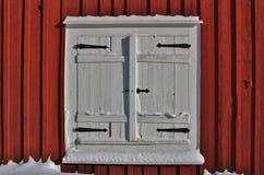 Kyrkliga stugor i Gammelstad kyrkastad Royaltyfri Bild