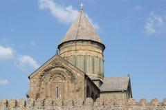 Kyrkliga Sveti Zchoweli, Mzcheta, Georgia Arkivbilder