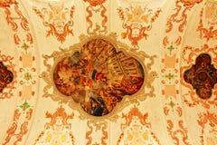 Kyrkliga takmålningar Lucerne Schweiz för jesuit Royaltyfri Fotografi