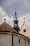 Kyrkliga tornspiror Royaltyfria Foton
