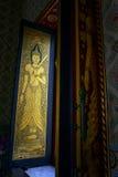 Kyrkliga väggmålningar för fönster Royaltyfria Foton