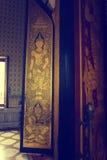 Kyrkliga väggmålningar för fönster Arkivbilder