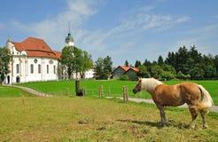 kyrkliga wies för bavaria Arkivbild